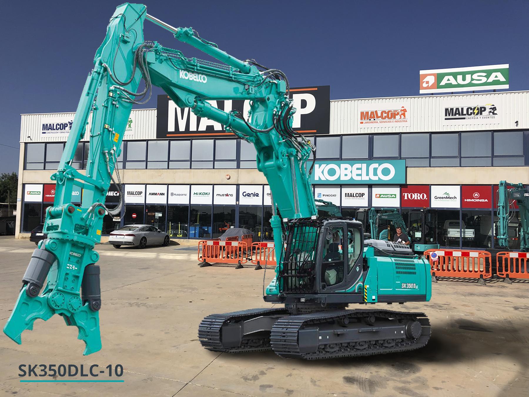 Kobelco lanza su máquina de demolición más pequeña de Europa SK350LC